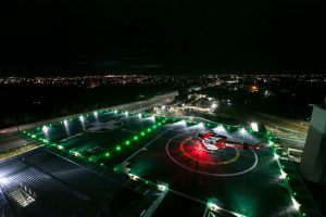 Custom Hardwired Helipad Lighting Solution for Royal Adelaide Hospital
