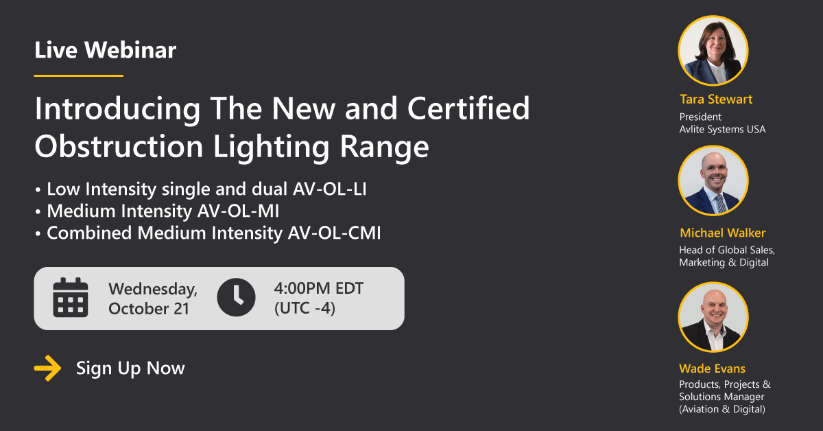 [Launch Webinar] Introducing The New and Certified Obstruction Lighting Range